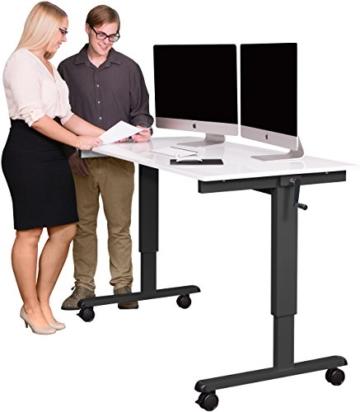 Stand Up Desk Höhenverstellbarer Schreibtisch kaufen Weiß