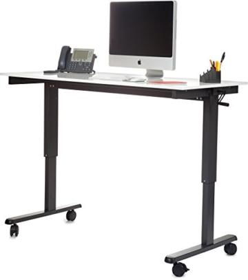 Stand Up Desk Höhenverstellbarer Schreibtisch vergleich Weiß