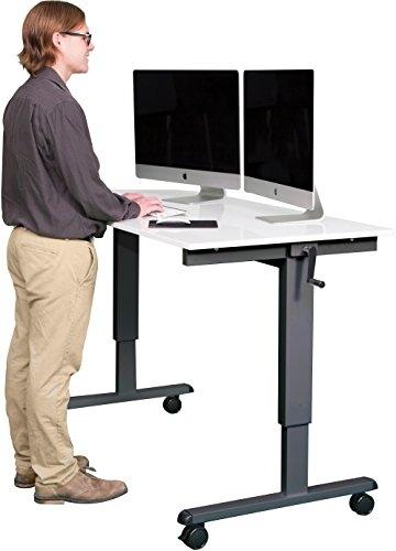 Stand Up Desk Höhenverstellbarer Schreibtisch Weiß