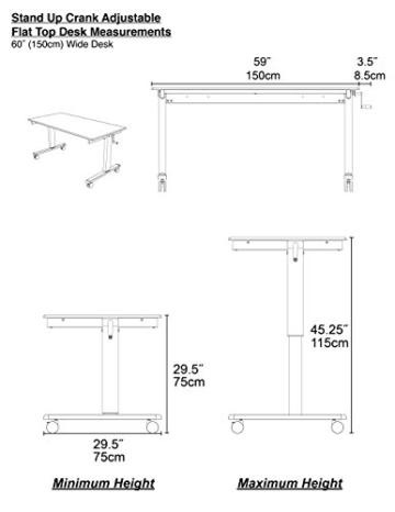 Stand Up Desk Höhenverstellbarer Tisch kaufen Weiß