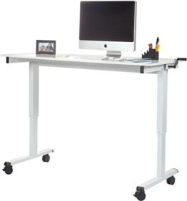 Stand Up Desk Höhenverstellbarer Schreibtisch weiß version 2