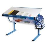 Idimex blau höhenverstellbar schreibtisch für kinder