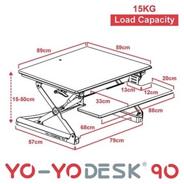 Yo-Yo Desk 90 Stehschreibtischalternative
