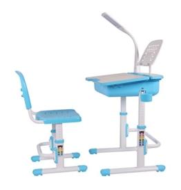Leomark smart blau höhenverstellbarer schreibtisch für kinder