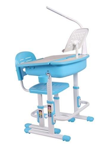Leomark smart blau kinderschreibtisch höhenverstellbar
