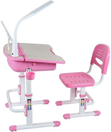 Leomark smart rosa  stehschreibtisch für kinder