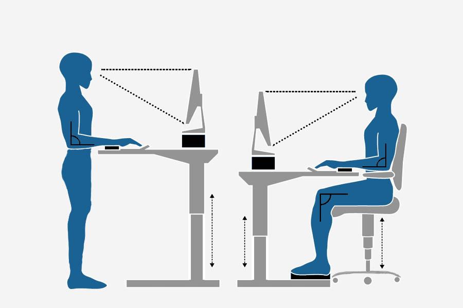 stehschreibtisch ergonomie