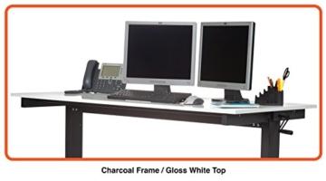 Stand Up Desk Höhenverstellbarer Tisch Weiß