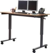 Stand Up Desk Höhenverstellbarer Schreibtisch kaufen Walnuss