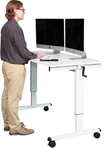 Stand Up Desk Höhenverstellbarer Schreibtisch kaufen weiß version 2