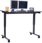 Stand Up Desk Höhenverstellbarer Schreibtisch schwarz