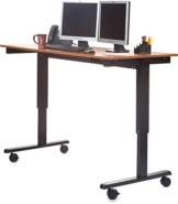 Stand Up Desk Höhenverstellbarer Schreibtisch teakholz