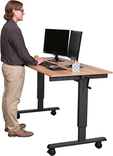 Stand Up Desk Höhenverstellbarer Schreibtisch Walnuss