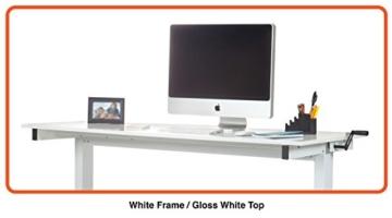 Stand Up Desk Höhenverstellbarer Tisch kaufen weiß version 2
