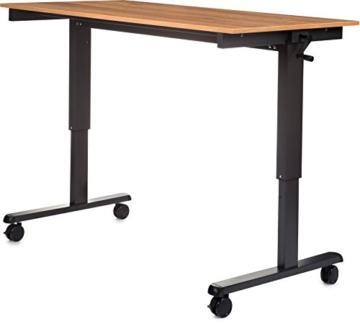 Stand Up Desk Höhenverstellbarer Tisch Walnuss