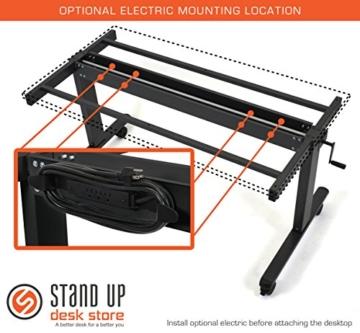 Stand Up Desk Stehschreibtisch homeoffice Walnuss