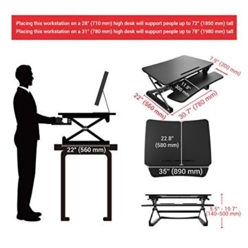 FlexiSpot M2B 35 Schreibtischaufsatz