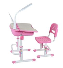 Leomark smart rosa höhenverstellbarer schreibtisch für kinder