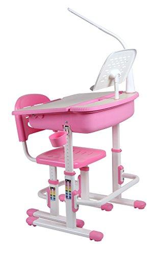 Leomark smart rosa kinderschreibtisch höhenverstellbar