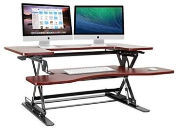 Halter höhenverstellbarer Schreibtischaufsatz (Braun) -