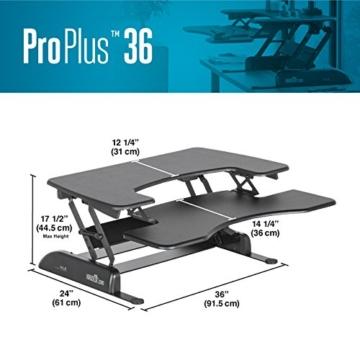 VARIDESK Pro Plus 36 stehschreibtisch elektrisch höhenverstellbar kaufen